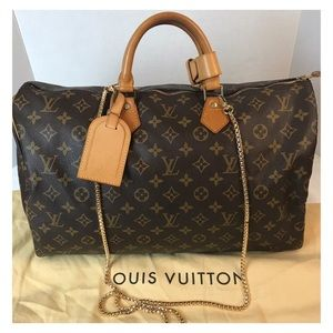 CERTIFIED AUTH. LOUIS VUITTON MONOGRAM SPEEDY 40